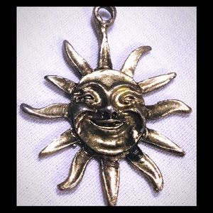 Happy sun silver pendant